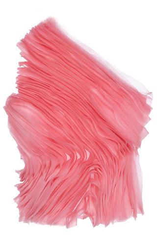 Medium giuseppe di morabito pink one shoulder silk organza top