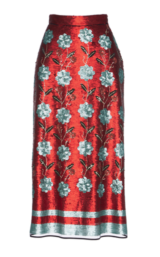 Medium giuseppe di morabito floral paillette embellished skirt