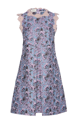 Medium giuseppe di morabito floral scalloped trim floral jacquard dress