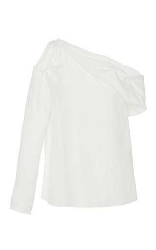 Medium eleanor balfour white katerina peek a boo silk top