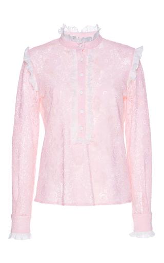 Medium giuseppe di morabito pink lace blouse
