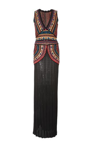 Medium talitha multi intarsia floor length dress