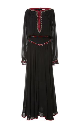 Medium talitha black tribal embroidered long rosa dress