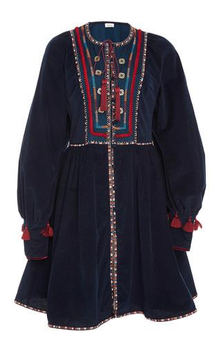 Medium talitha navy tribal embroidered athena dress