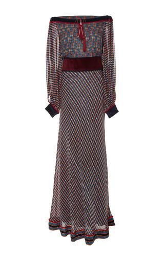 Medium talitha print ashanti print split sleeve dress