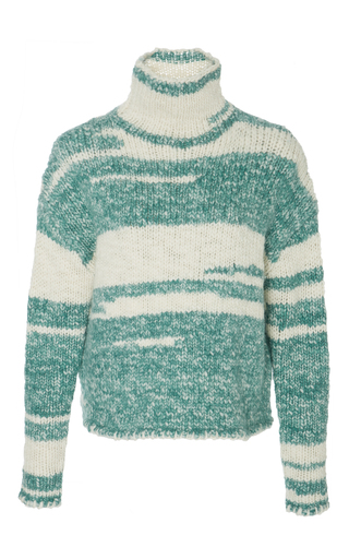 Medium whit multi funnel neck sweater