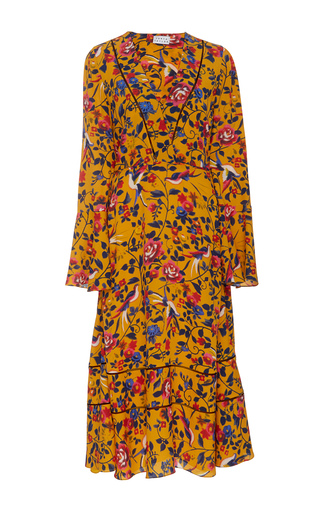 Medium tanya taylor floral idealla midi dress
