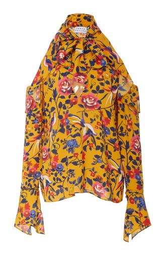Medium tanya taylor floral adriene bow top