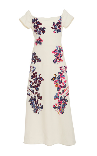 Medium tanya taylor white embroidered lottie dress
