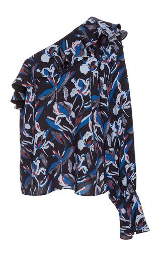 Medium tanya taylor floral one shoulder silk orla top