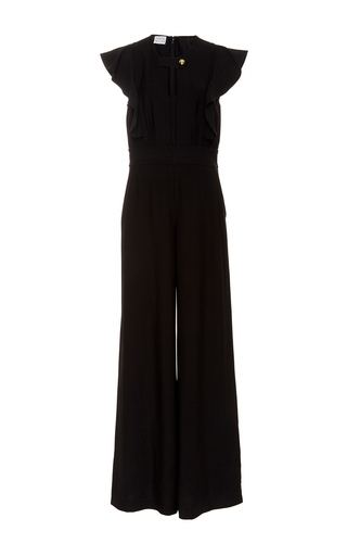 Medium tanya taylor black regan twill jumpsuit