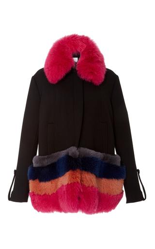 Medium tanya taylor black poppy fur collar coat