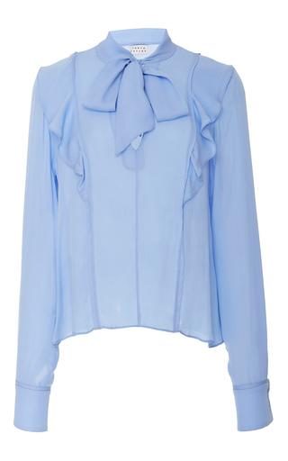 Medium tanya taylor blue schulyer silk georgette top