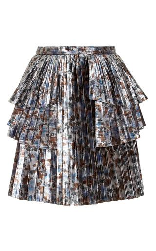Medium tanya taylor metallic metallic sidra mini skirt