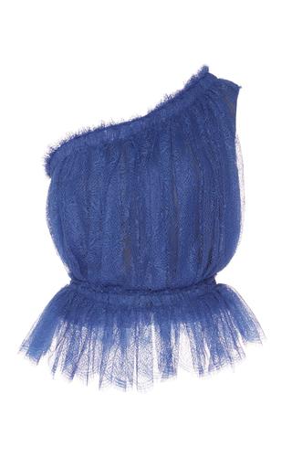 Medium emilio de la morena purple one shoulder peplum top