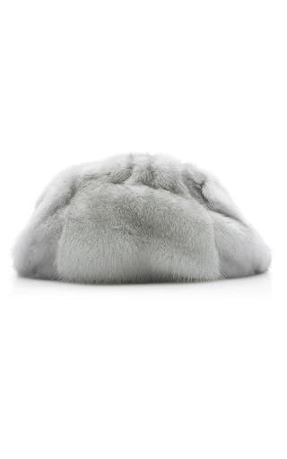 Medium nancy gonzalez grey ruched mink clutch