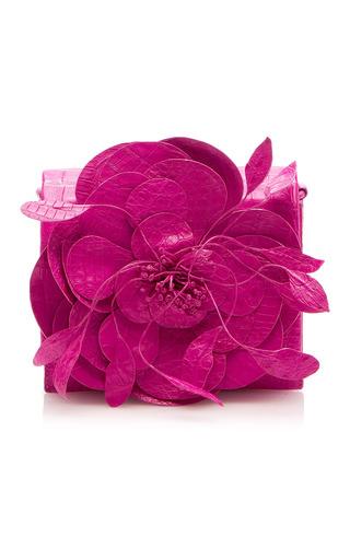 Medium nancy gonzalez pink flower gio crossbody