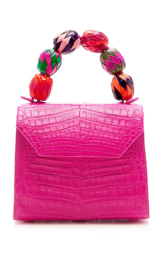 Medium nancy gonzalez pink fiesta handle lady bag