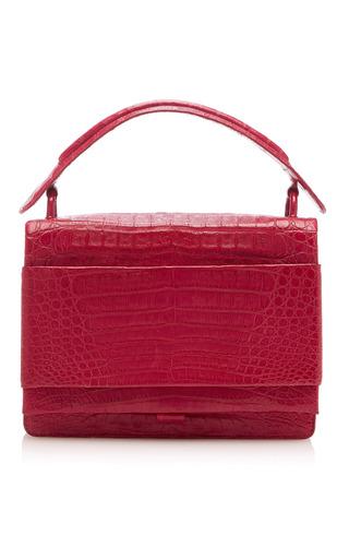Medium nancy gonzalez red flap top handle bag