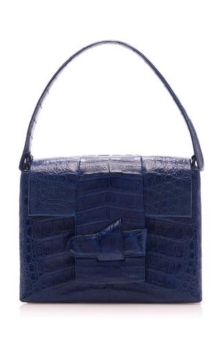 Medium nancy gonzalez blue origami lady bag with chain strap
