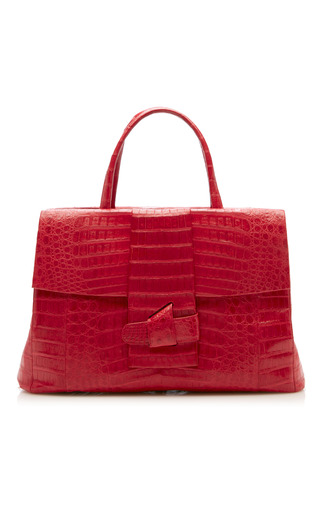 Medium nancy gonzalez red origami large center zip tote