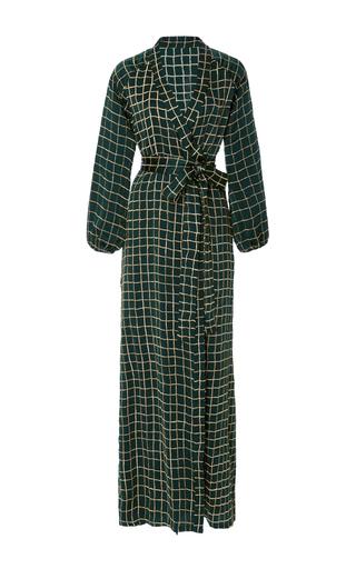 Medium rhode resort plaid jagger wrap dress