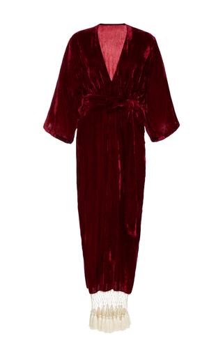 Medium rhode resort burgundy leonard velvet dress