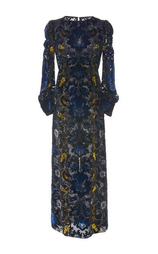 Medium anna sui black arabesque velvet dress