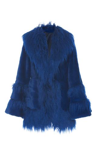 Medium anna sui blue la belle faux fur coat