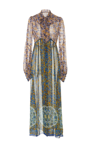 Medium anna sui floral floral symphony chiffon dress