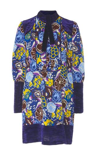 Medium anna sui floral jacquard and velvet mini dress