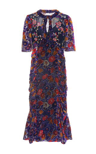 Medium anna sui floral garden flower velvet dress