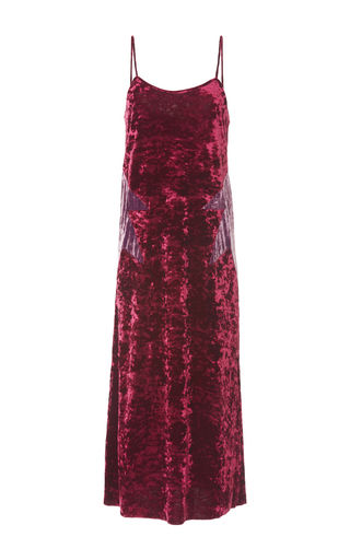 Medium anna sui burgundy starburst velvet slip dress