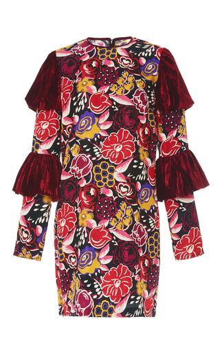 Medium anna sui floral tiered sleeve jacquard dress