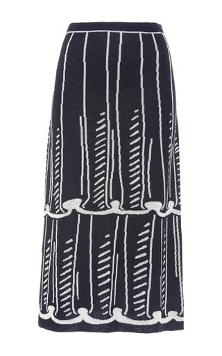 Medium anna sui black white tromp knit skirt