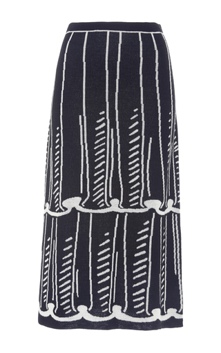 Medium anna sui black white tromp knit skirt