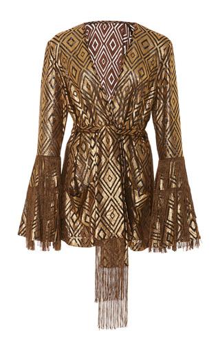 Medium anna sui gold foiled diamond fringe jacket