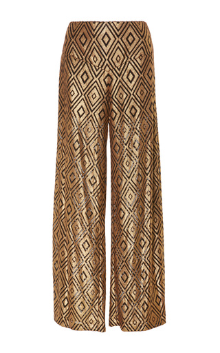 Medium anna sui gold foiled diamond pant