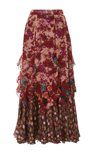 Medium anna sui print painted posey border skirt
