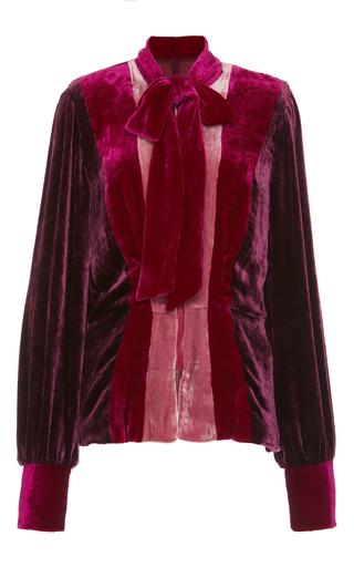 Medium anna sui multi vintage velvet magneta color block jacket