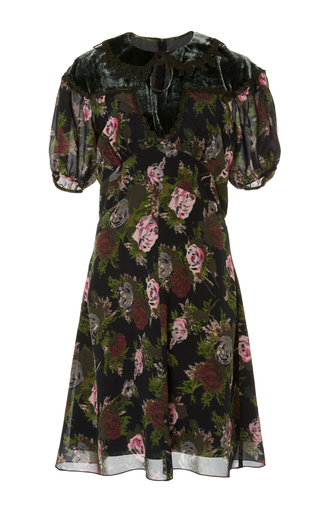 Medium anna sui floral watered bouquets dress
