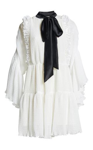 Medium romance was born white purity ruffle dress