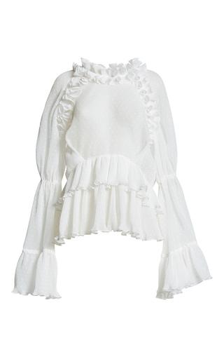 Medium romance was born white purity ruffle blouse