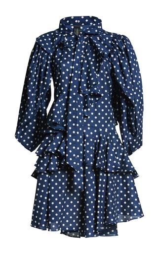 Medium romance was born navy full moon dot dress