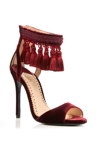 Medium louis leeman burgundy tassle sandal
