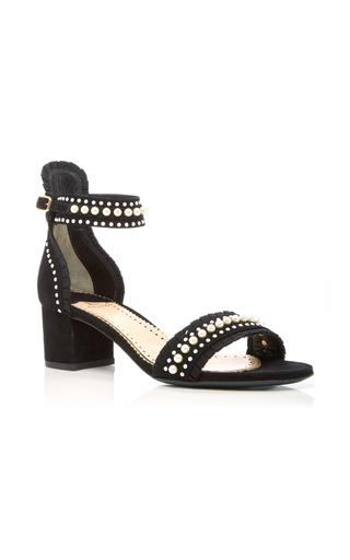 Medium louis leeman black pearl studded sandal