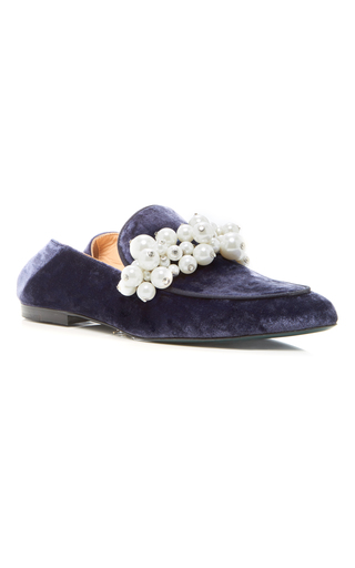 Medium louis leeman blue pearl loafer