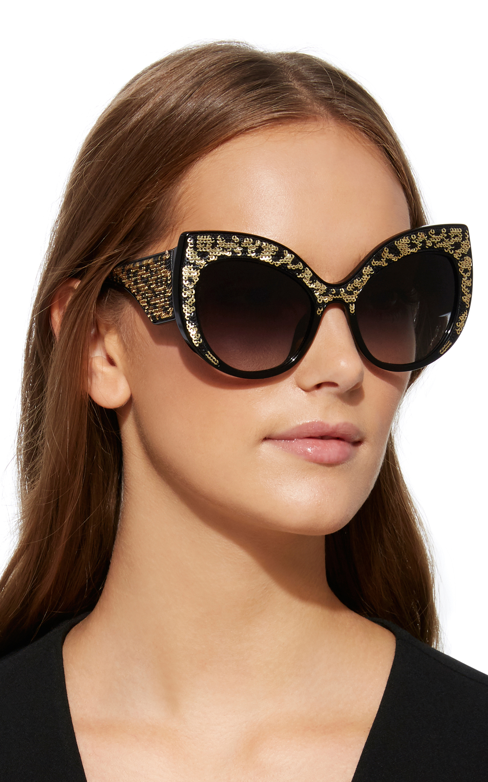 4e86e617b30b Dolce & GabbanaLeo Leopard-Print Acetate Cat-Eye Sunglasses. CLOSE. Loading