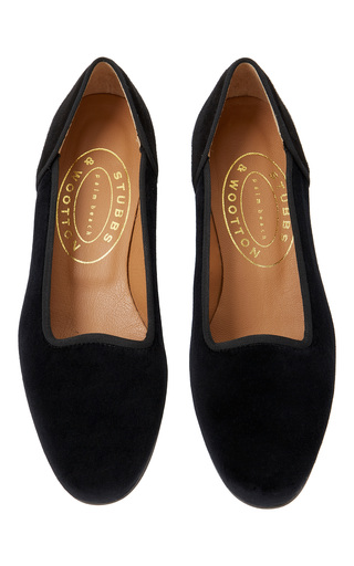 Medium stubbs wootton black tutu velvet slipper
