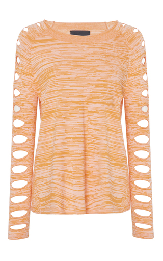 Medium zoe jordan orange koch knit top